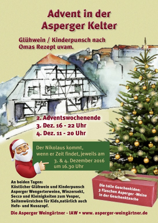 Advent in der Asperger Kelter